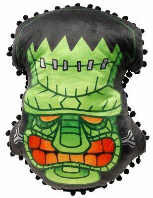 Monster Pillow - Sourpuss Frankenstein Tiki Pillow Horror Monster Rockabilly Punk Tiki Home Decor