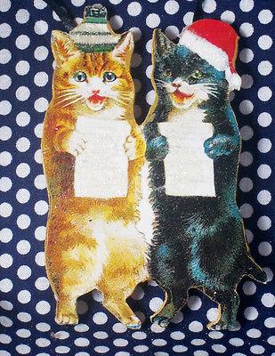 Singing Cats Handcrafted Wooden Christmas Ornament Music Teacher Gift Choir