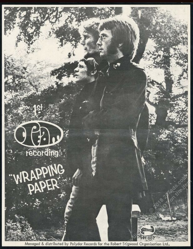 1966 Cream Eric Clapton photo Wrapping Paper record release UK vintage print ad