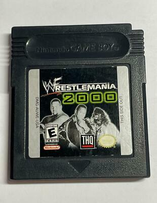 WWE Wrestlemania 2000 Nintendo Gameboy Color TESTED