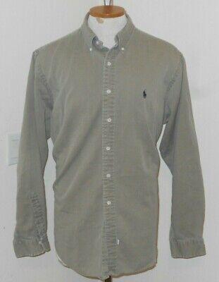 vintage RALPH LAUREN Denim Shirt Sz XL KHAKI