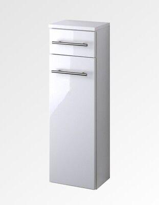 Lackiert Breite Schrank (Badezimmer Unterschrank SMALL Badschrank 1 Tür 1 Schublade 25 cm breit weiss)
