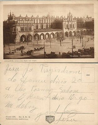 ANTIQUE POLISH POSTCARD SUKIENNICE KRAKOW POLAND