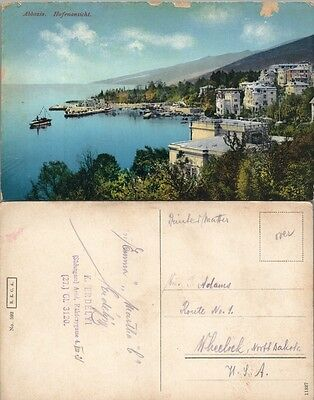 HARBOR & MONASTERY HUNGARY (?) ANTIQUE POSTCARD