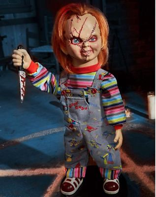 Childs Play - 2 Ft Bump 'N Go Chucky Animatronics Doll Figure / Prop NEW