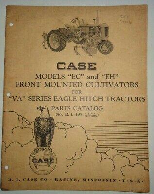 Case Ec Eh Eagle Hitch Cultivator Parts Catalog Manual Original Fits Va Tractor