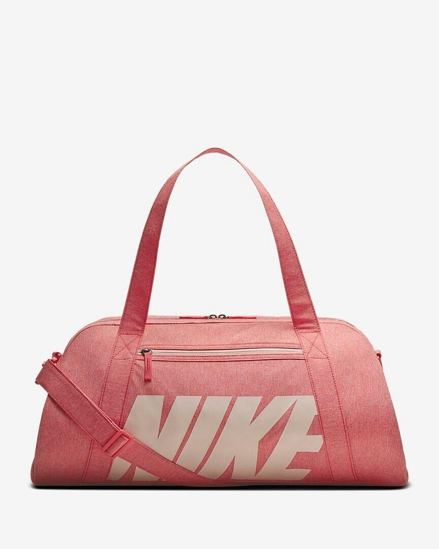 Women's Nike Athletic Gym Club Logo Duffel Bag, Pink, NEW