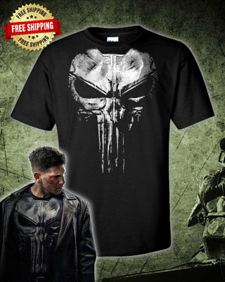 The Punisher Jon Bernthal Frank Castle Punisher Black T-Shirt (Punisher Shirt)