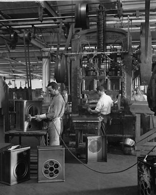 Atwater Kent Radio Factory Bliss Press Workers ca.1928 View 8x10 -