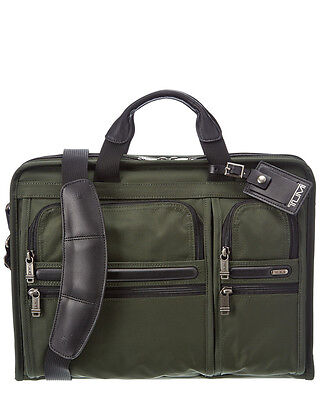 Tumi Alpha Business Compact Large Screen Computer Brief Macbook bag NWT SPRUCE