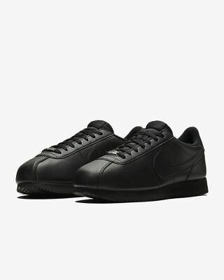 Mens Nike Cortez Basic Leather Trainers Shoes Black 819719 001 ALL SIZES
