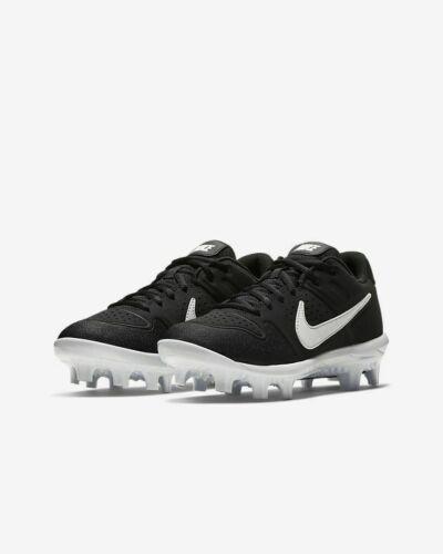 New Nike Alpha Huarache Varsity Youth Baseball Cleat AO7583-001 Black/White $50