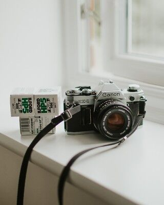 Canon AE-1 35mm SLR Film Camera with FD 50mm lens Kit
