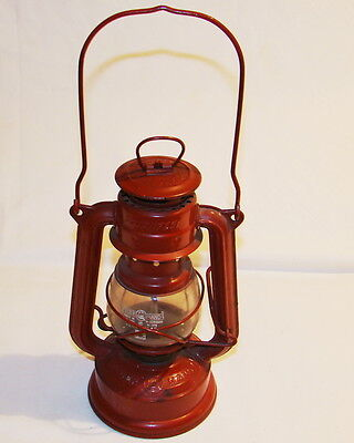 Vintage Red Feuerhand Nier No. 175 Super Baby Kerosene Lamp, W. Germany on Rummage