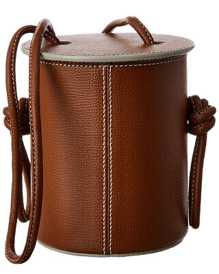 Yuzefi Cubito Mini Leather Bucket Bag Women's Brown
