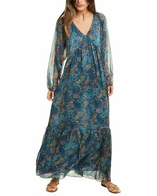 Johnny Was Tekal Silk Maxi Dress Women's Clothing, Shoes & Accessories