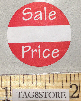 100 Lot Self-adhesive Sale Price Round Retail Labels 1 Sticker Tags Sales Store
