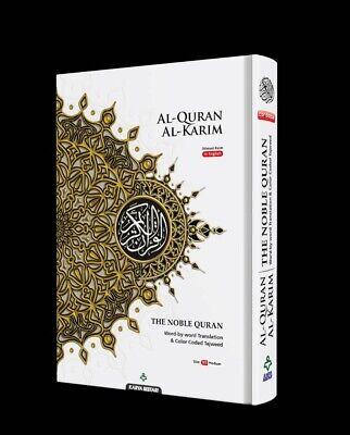 MED B5 Noble Quran White Word for Word Arabic English Translation Colour Tajweed