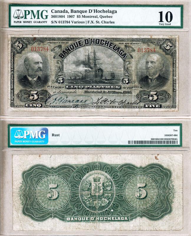 Very Rare 1907 $5 Banque D