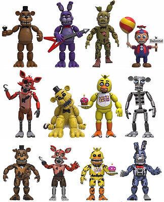 Set Of 12 Five Nights At Freddys 2  Mini Figure Foxy Bonnie Chica  Nightmare