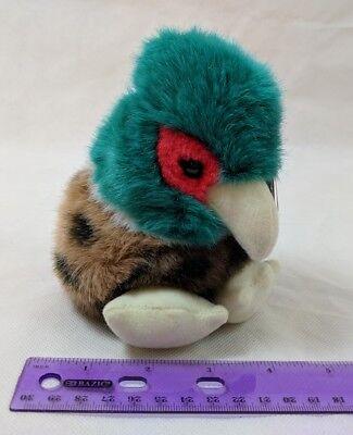"1994 Puffkins Autumn Pheasant Bird 4"" Plush Stuffed Swibco Retired Vintage"