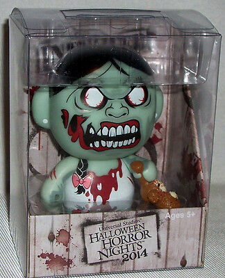 Universal Studios Halloween Horror Nights 2014 INFECTED ZOMBIE GIRL VINYL FIGURE](Universal Studios Zombie Halloween)