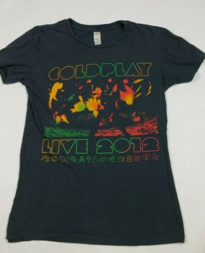 COLDPLAY MYLO XYLOTO Tour Youth T-Shirt Sz Large Gray Live 2012