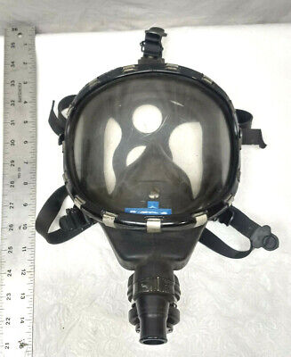 Vintage Scott Full Face Respirator Mask Military Police Firefighter Ppe