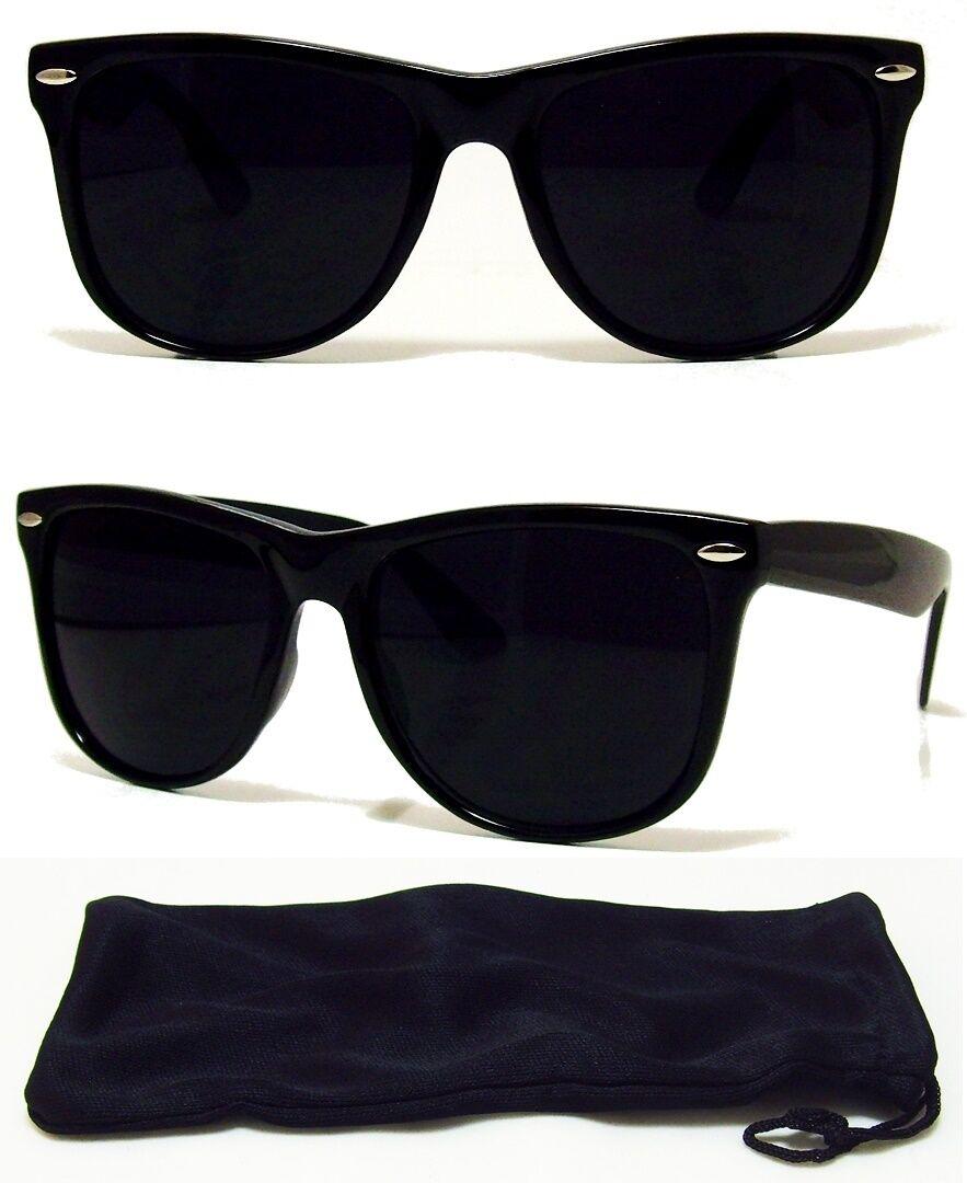 Dark BLACK Lens Sunglasses Vintage Retro Aviator Men Women C