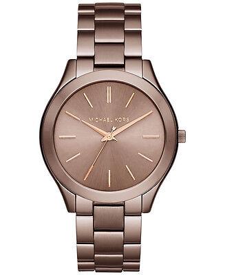 Michael Kors Women's MK3418 Slim Runway Sable Dial Sable Steel Bracelet Watch