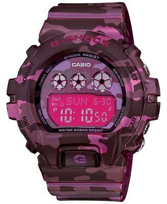 Casio G-Shock Women's GMDS6900CF-4 Digital Pink Camouflage Resin 46mm Watch
