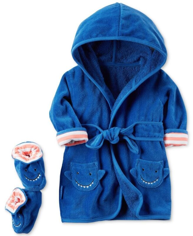 Carters baby Boy Bath Robe And Booties