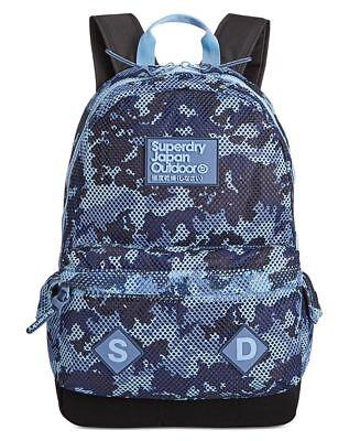 NEW Superdry Maison Montana Blue Camo Backpack Bag U91001DN EDC