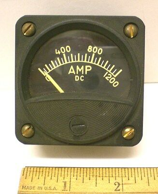 Dc Ammeter 0-1200 Ampsdc Military Sealed 2 12 Meter Ge New Made In Usa