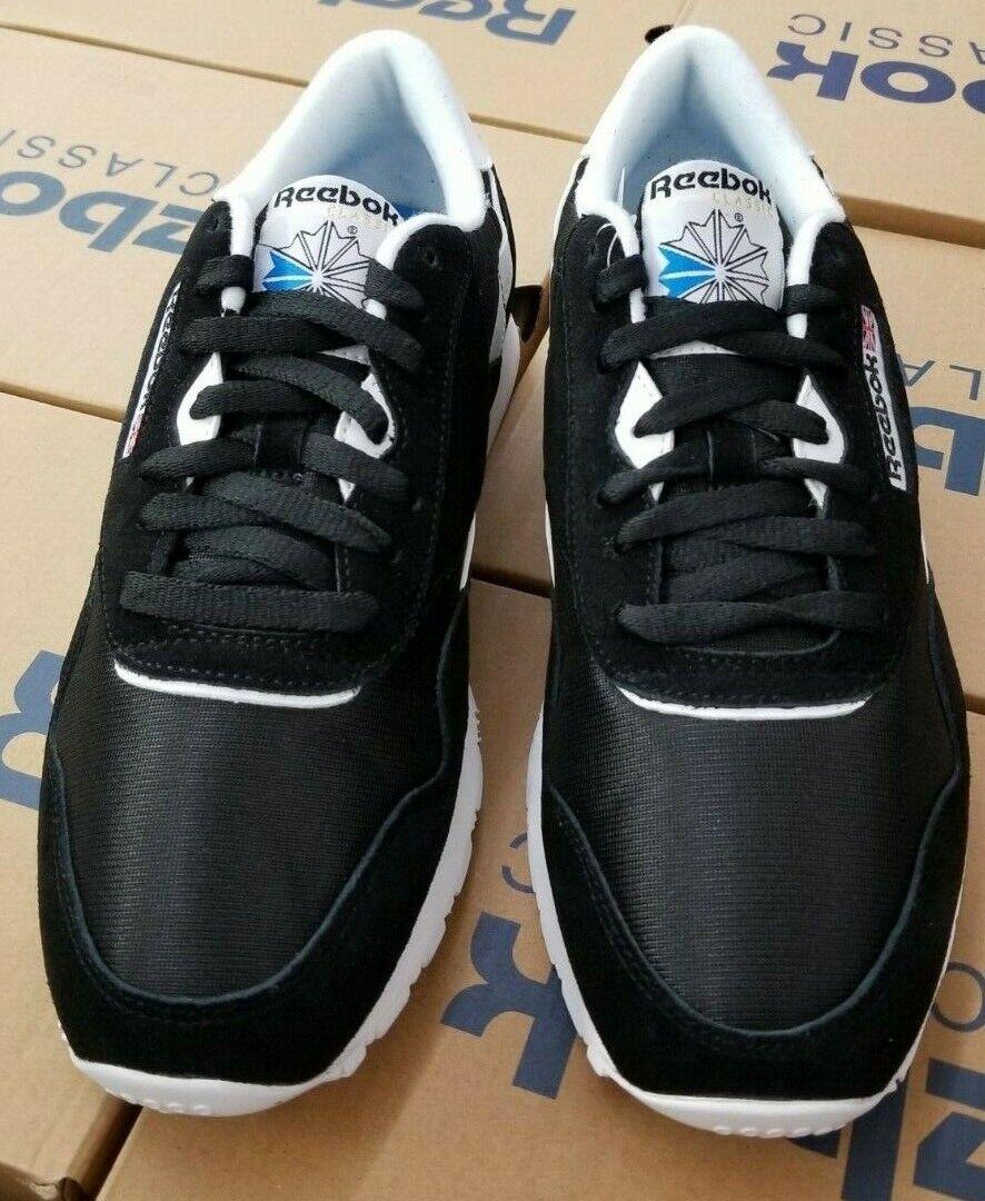 REEBOK MENS  CLASSIC NYLON   BLACK  WHITE  6604 FV1592
