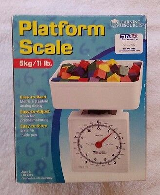 Learning Resources Platform Scale 5Kg 11Lb Capacity Home School