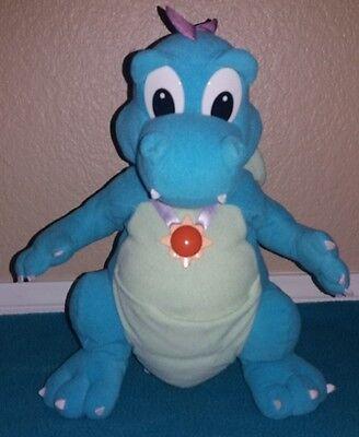 "Dragon Tales ORD Talking Light-Up Blue Plush 12"" Playskool 1999 Hasbro SEE VIDEO"
