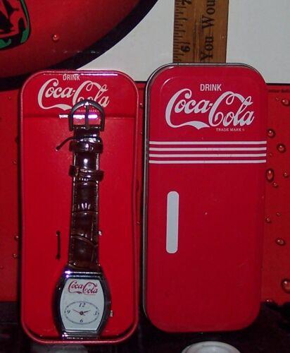 MY COKE REWARDS COCA - COLA WRIST WATCH NEW IN TIN NEEDS BATTERY