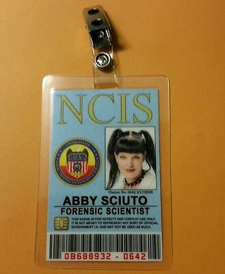 NCIS TV Series ID Badge - Forensic Scientist Abby Sciuto costume cosplay