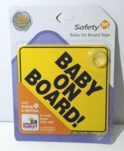 Baby On Board Car Window Sign Suction Cup NEW
