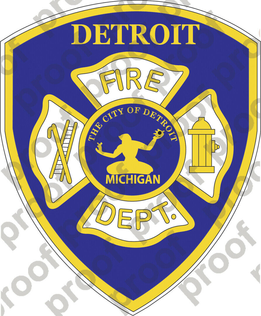 Home Decoration - STICKER DETROIT FIRE DEPARTMENT