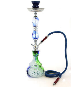 22-Blue-1-Hose-Hookah-Shisha-Tie-Dye-Glass-Vase-Huka-Storage-Case-30160S