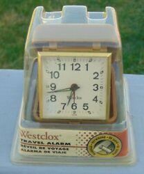 Vintage Westclox Tourino #44530 Travel Alarm Clock Key-Wound Luminous Face New