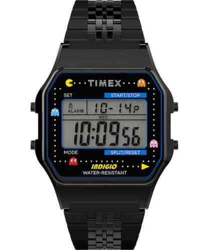 Timex T80 x PAC-MAN™ 34mm Stainless Steel Bracelet Wrist Watch