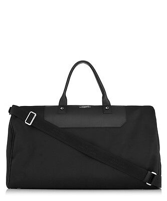 Versace Collection Black leather trim holdall X RRP £699