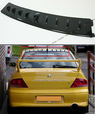 FOR 01-07 MITSUBISHI LANCER EVO 7 8 9 CARBON FIBER ROOF VORTEX GENERATOR SPOILER