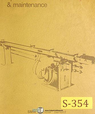 Smw 65 And 100 Omnibar Bar Feed Instruct Operation And Maintenance Manual 1985