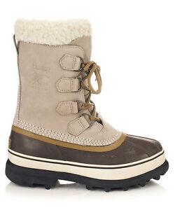SOREL Caribou Tusk Leather Snow Boots - Size 4 UK