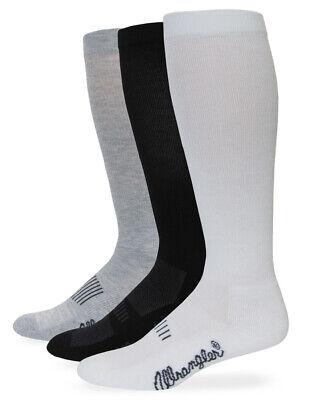 Wrangler Mens Western Boot Cushion Over the Calf Socks 3 Pair Pack Western Boot Socks