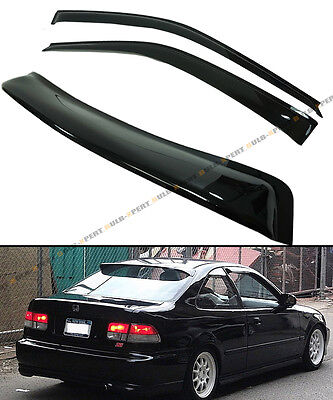 96-2000 HONDA CIVIC 2DR COUPE JDM SMOKE Back ROOF WINDOW + SIDE DOOR VISOR COMBO